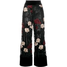 1b815c459144ff Ganni  Simmons  floral embroidered trousers ( 315) ❤ liked on Polyvore  featuring pants