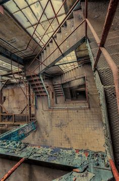 abandoned staircase photography by German photographer Christian Richter