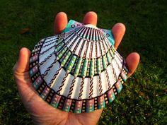 Pintado a mano mar shell Babilonia obras de arte por Jabashop