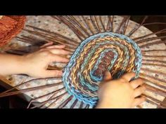 A shelf with a pocket. Weaving an oval base. Part 1 - YouTube