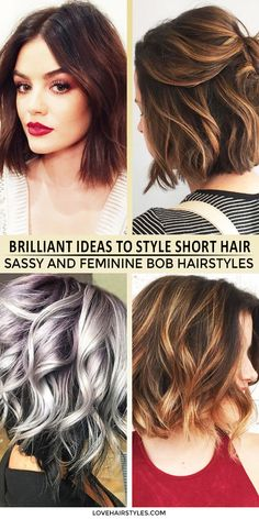 Need some pieces of advice how to get cute short hair? Our collection of brilliant ideas will help you out. Click to see more fantastic ideas to style short hair
