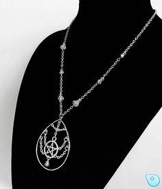 Pentagram necklace, Pentacle necklace, Wiccan Jewelry, Pagan necklace, Pagan Jewelry, Wiccan necklace, Pentacle, Pagan, Wiccan, Pentagram by CervelleDoiseau on Etsy