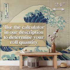 Leaf Wallpaper - Canvas Wall Decal / 1 roll: 24W x 120H