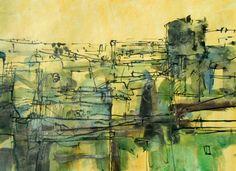 """Saatchi Art Artist Marko Milovic; Drawing, """"Cityscape"""" #art"""