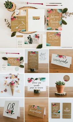 Chuva de Papel: Papelaria de Casamento Criativa e Personalizada | http://lapisdenoiva.com/chuva-de-papel-papelaria-de-casamento-criativa-e-personalizada/