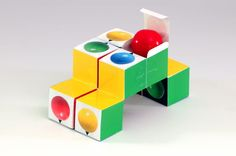 large gumball cube packaging
