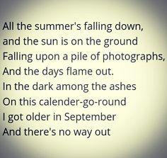 Het blijft wennen aan september...