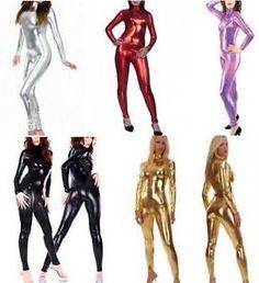 NEW-METALLIC-Body-Suit-Lycra-Second-Skin-Spandex-Catsuit-Bodysuit-Zentai-Costume