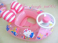 Sanrio HelloKitty Kids Children Inflatable Swim Pool Floating Boat Tube Ship