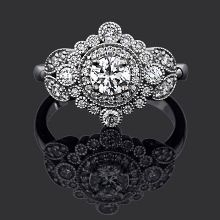 The daisy ring from Chilton's Antiques! In love! Really big, but the detail is pretty[: