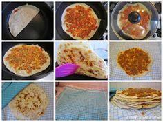 Mijn mixed kitchen: Lahmacun (zelfgemaakte Turkse pizza) Pizza, Yummy Food, Vegan, Breakfast, Ethnic Recipes, Morning Coffee, Delicious Food, Morning Breakfast, Good Food