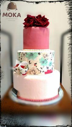 Wedding cake 2016 #by #zaxmoka Wedding Cakes, Desserts, Food, Wedding Gown Cakes, Tailgate Desserts, Deserts, Essen, Cake Wedding, Postres