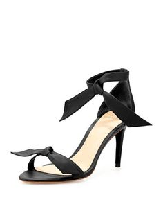Leather+Bow-Tie+d\'Orsay+Sandal,+Black+by+Alexandre+Birman+at+Neiman+Marcus.