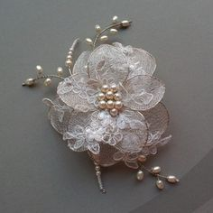 Lorelle Deluxe - (ethereal dreams collection) - My site Hair Jewelry, Wedding Jewelry, Fashion Jewelry, Bead Embroidery Jewelry, Beaded Embroidery, Beaded Flowers, Fabric Flowers, Organza Flowers, Couture Embroidery