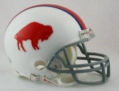Buffalo Bills 1965-73 Throwback Replica Mini Helmet w/ Z2B Face Mask--(Packag... (Pack of 2)