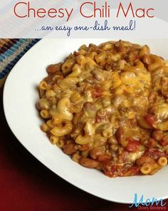 Cheesy Chili Mac Recipe, An Easy One-Dish Meal The Ultimate Pinterest ...