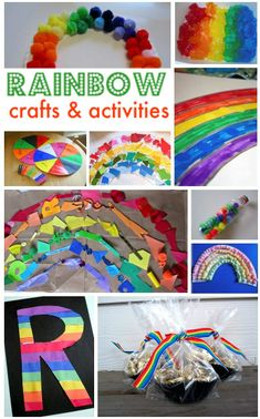 Rainbow Crafts For Kids . Great for any time of year but wonderful for St.Patrick's Day! #ece