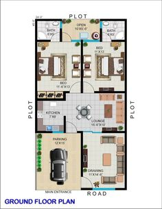 40x60 House Plans, Town House Plans, 2bhk House Plan, House Plans Mansion, Free House Plans, Model House Plan, Family House Plans, Small Modern House Plans, Simple House Plans