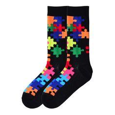 MENS SOCKS:  The Joy of Socks - Black and Bright Puzzle Socks (Men's), $10.50 (http://www.joyofsocks.com/black-and-bright-puzzle-socks-mens/)