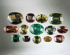 Natural Zircon Colors. These untreated, natural-color zircons are from Sri Lanka. - Alan Jobbins. GIA (091614)
