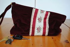 Vintage Velvet Burgundy With Floral Embroidered by LingerieAddicts, $24.50