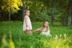 сестры, лес, дети, девочки