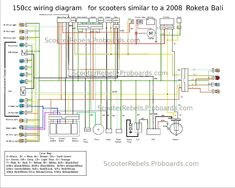 nissan wiring diagram color codes ac compressor 8 best scooter images 150cc circuits chinese scooters diy car go kart dc circuit