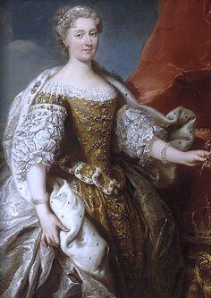 Portret Katarzyny Opalińskiej, autor Jean Baptiste van Loo, 1725