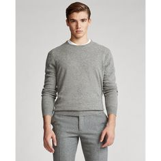 Offering the timeless luxury of cashmere this wear-with-anything sweater has been specially treated for easy care while maintaining its breathability and sumptuous texture. Winter Sweater Outfits, Winter Outfits Men, Men Sweater, Fall Outfits, Bearded Tattooed Men, Desert Fashion, Men Closet, My Guy, Business Fashion