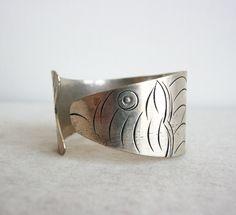 Handmade Metal Bracelet with Fish Design