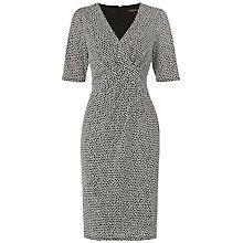 Buy Jaeger Mosaic Print Dress, Black / White Online at johnlewis.com