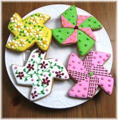 Pinwheel Decorated Cookies