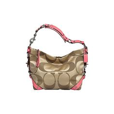 Coach Official Site - SIGNATURE SATEEN CARLY (1265 QAR) ❤ liked on Polyvore featuring bags, handbags, purses, coach, accessories, fillers, coach purses, hand bags, man bag and handbag purse