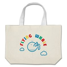 Flying Whale Canvas Bag #flying #whale #canvas #bag