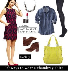 with an i.e.: Chambray Challenge: 10 Ways to Wear a Chambray Shirt