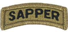 Sapper Tab with Velcro / Hook Fastener (MULTICAM (OCP)): SAPPER Tab Patch with Velcro or Equivalent Hook Fastener Military Specifications in accordance with TIOH Worn above Unit Patch on a soldier's uniform Army Day, Us Army, Military Awards, Royal Engineers, Defence Force, Tabata, No Time For Me, Ranger, The Unit