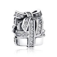 925 Sterling Silver Sparkling Surprise, Clear CZ Gift Present Box Charms Fit Bracelet Sterling Silver Jewelry Accessories Jewelry Gifts, Jewelry Accessories, Fine Jewelry, Women Jewelry, Jewelry Box, Cadeau Surprise, Surprise Gifts, Silver Charms, Sterling Silver Bracelets