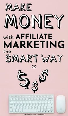 How to make money with affiliate marketing the smart way. Make Money Blogging, Way To Make Money, Make Money Online, Blogging Ideas, Money Tips, Affiliate Marketing, Online Marketing, Media Marketing, Marketing Training