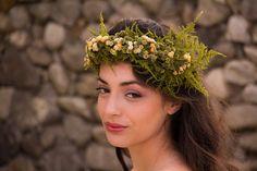 Fern & Flower Head Wreath Fairy Crown in Cream by LoveFromAfar, $45.20
