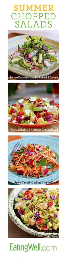 Delicious Summer Chopped Salads