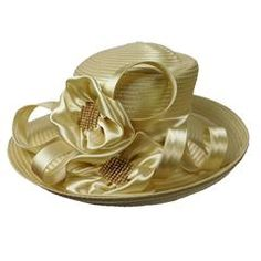 Asymmetric Satin Braid Hat with Satin Flowers