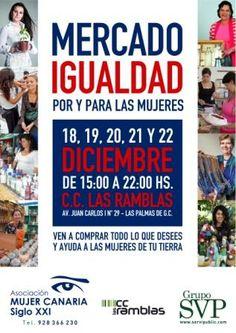 MERCADO DE LA IGUALDAD, Organizado por Asociación Mujer Canaria siglo XXI