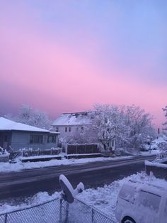 New post on violetvio Nocturne, Blue Hydrangea, Winter Wonder, Pink Sky, Mother Nature, Beautiful Places, Romantic Places, Cool Pictures, In This Moment