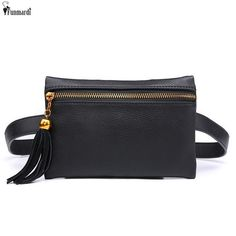 18dbf5e0b97 FUNMARDI Vintage PU Leather Waist Bags New Travel Waist Packs For Women  Money And Phone Belt