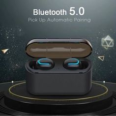 HBQ True Wireless Earbuds | This Bluetooth Earbud with charging carry case are available in black and white and deliver superb performance. The handy carry case will also charge your earbuds when on the go without being near a power source thanks to the m Noise Cancelling Earbuds, Bluetooth Earbuds Wireless, Waterproof Headphones, In Ear Headphones, Westerns, Sport Earbuds, Samsung, Gaming Headset, Phone Accessories