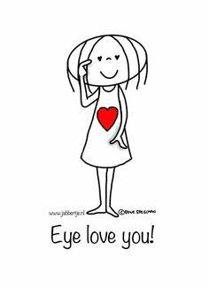 Eye love you! - Jabbertje