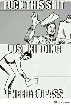 When exams start..