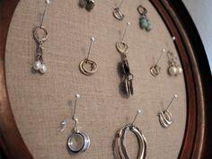 jewelri holder, jewelri display, earring holders, ear holder, jewelry displays, diy jewelry, dot idea, jewelri organ, earrings