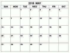 May 2018 Calendar, Free Monthly Calendar, 2018 Printable Calendar, October Calendar, Today Calendar, Printable Calendar Template, Free Printables, March, Daily Schedule Template