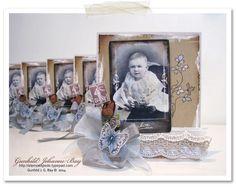 Vintage Baby Card. 2014 © Gunhild J. G. Bay.